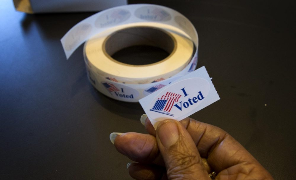 "This fall, you can now say ""I Voted"" ahead of Election Day. (Robin Lubbock/WBUR)"