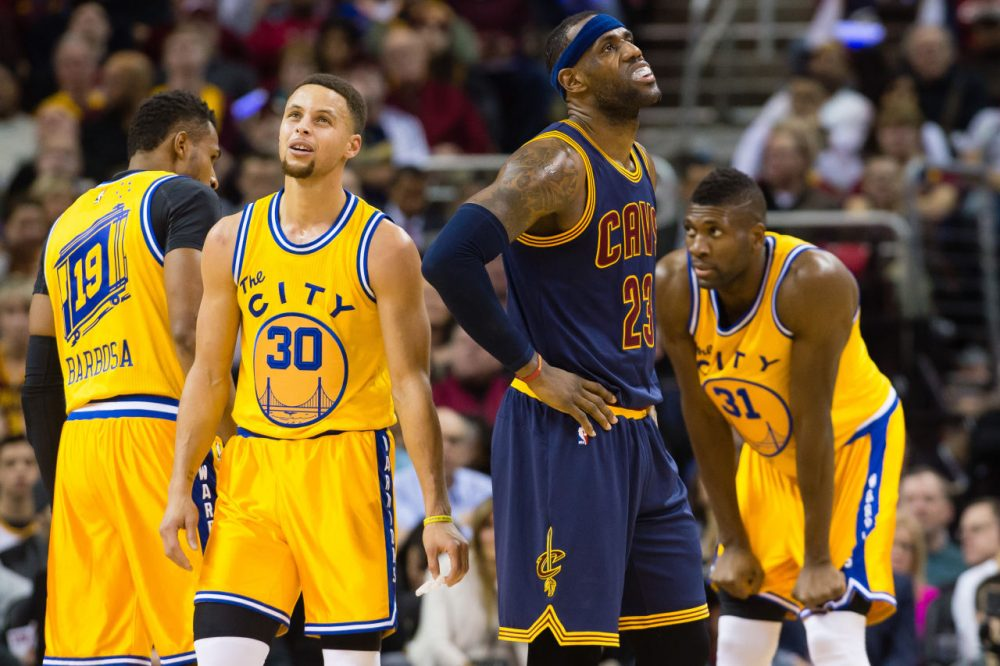 a372ba3079c Stephen Curry of the Golden State Warriors and LeBron James of the Cleveland  Cavaliers will meet