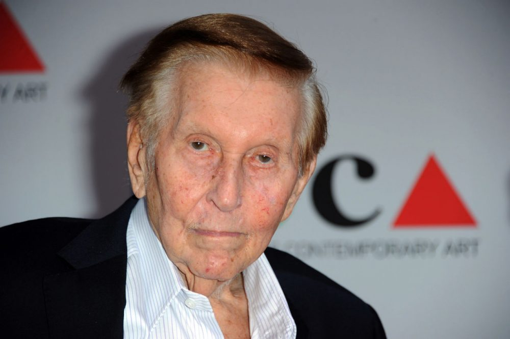 Media mogul Sumner Redstone arrives at the 2013 MOCA Gala celebrating the opening of the Urs Fischer exhibition at MOCA, in Los Angeles. (Photo by Richard Shotwell/Invision/AP, File)