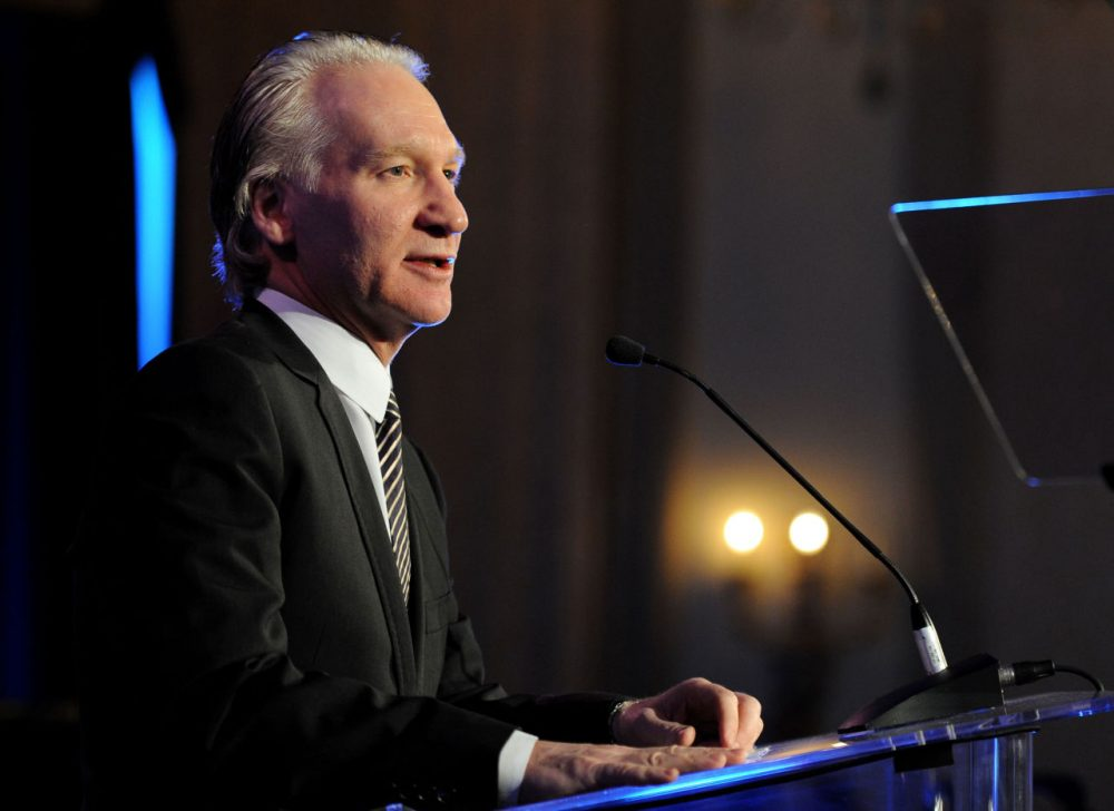 Bill Maher speaks onstage at the Cinema For Peace event benefitting J/P Haitian Relief Organization in Los Angeles held at Montage Hotel on January 14, 2012 in Los Angeles, California.  (Michael Buckner/Getty Images For J/P Haitian Relief Organization and Cinema For Peace)