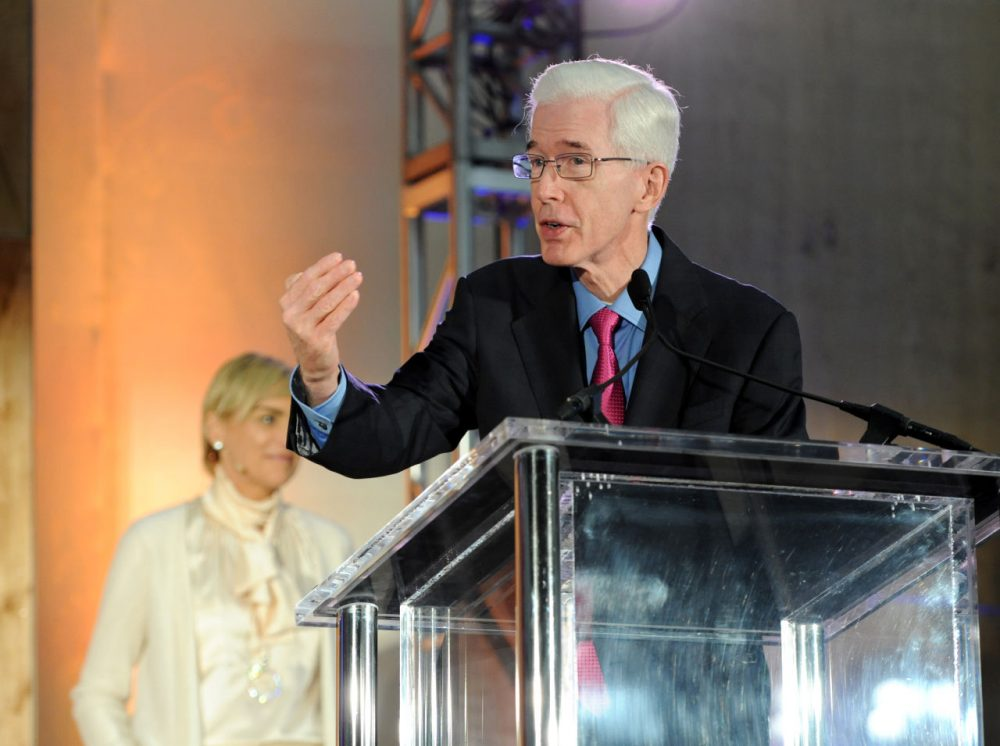 "Former California Governor Gray Davis attends The Lourdes Foundation ""Leadership in the 21st Century"" Event with His Holiness the 14th Dalai Lama at the California Science Center on February 26, 2014 in Los Angeles, California.  (Angela Weiss/Getty Images for The Lourdes Foundation)"