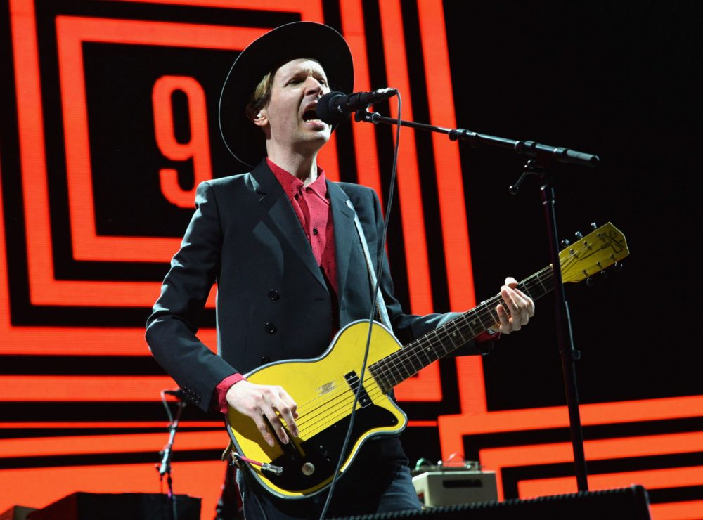 Musician Beck performs onstage during day 3 of the 2014 Coachella Valley Music & Arts Festival at the Empire Polo Club on April 13, 2014 in Indio, California.  (Kevin Winter/Getty Images for Coachella)