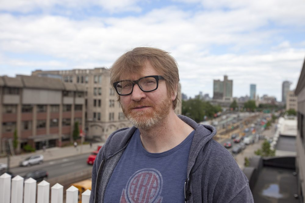 """Author Chuck Klosterman at WBUR. His latest book is """"But What if We're Wrong?"""" (Joe Difazio/WBUR)"""