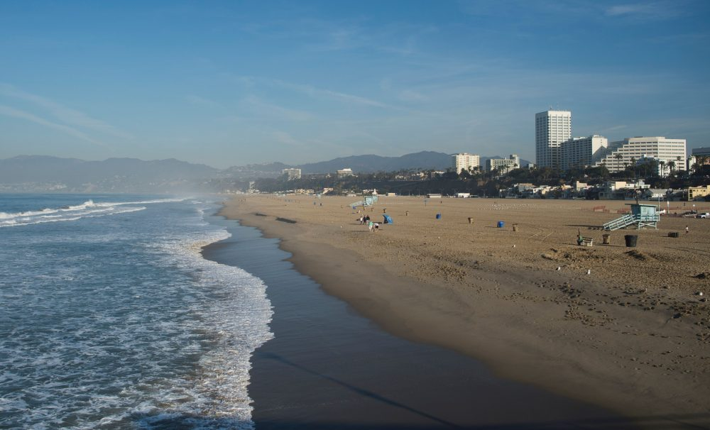 A general view of the beach in Santa Monica, California on February 27, 2016. (ANDREW CABALLERO-REYNOLDS/AFP/Getty Images)