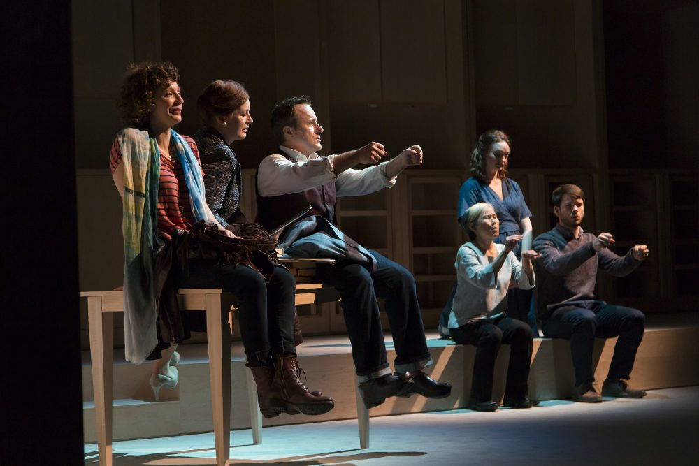 "The Huntington Theatre Company's production of ""I Was Most Alive With You."" (Courtesy T. Charles Erickson Photography/Huntington Theatre Company)"