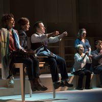 """The Huntington Theatre Company's production of """"I Was Most Alive With You."""" (Courtesy T. Charles Erickson Photography/Huntington Theatre Company)"""