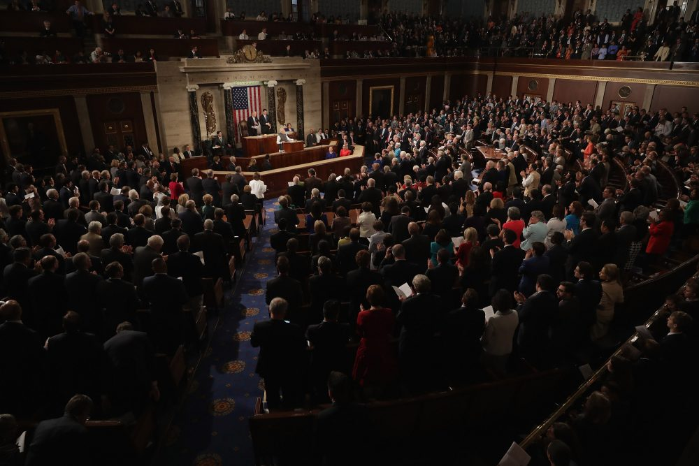Indian Prime Minister Narendra Modi addresses a joint meeting of the U.S. Congress in the House Chamber of the U.S. Capitol June 8, 2016 in Washington, DC. (Chip Somodevilla/Getty Images)