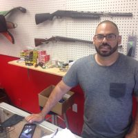 Mark Villafane, owner of the Guns N Ammo Academy in Winter Park, Florida. (Peter O'Dowd/Here & Now)