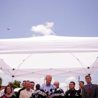 Florida Governor Rick Scott (C) speaks during a press conference updating the media on the investigation into the shooting at Pulse Nightclub, June 15, 2016 in Orlando, Florida. The shooting at Pulse Nightclub, which killed 49 people and injured 53, is the worst mass-shooting event in American history. (Drew Angerer/Getty Images)