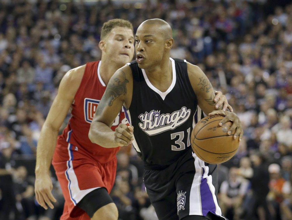 Caron Butler played with the Kings during the 2015-16 season -- his 14th year in the NBA. (Rich Pedroncelli/AP)