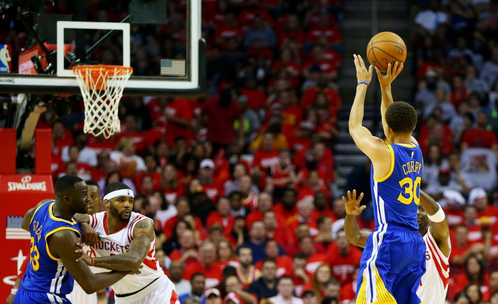 Stephen Curry hit 402 three-pointers during the 2015-16 regular season -- an NBA record. (Ronald Martinez/Getty Images)