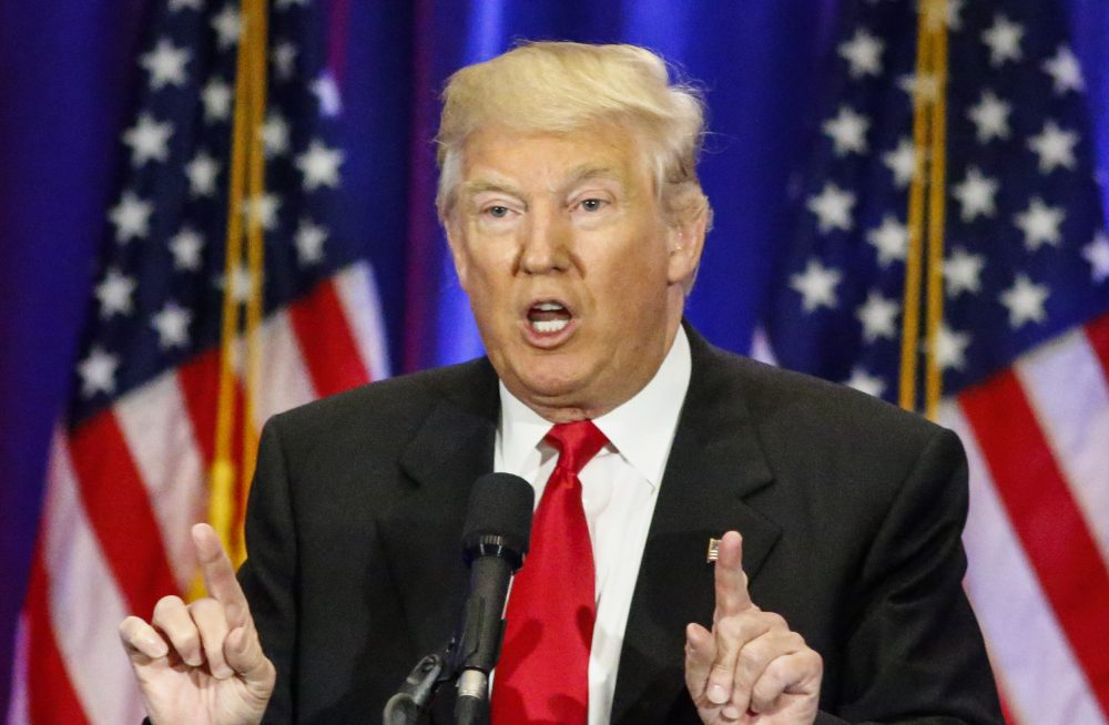 Presumptive Republican presidential nominee Donald Trump speaks at the Trump Soho Hotel in New York on June 22, 2016. (KENA BETANCUR/AFP/Getty Images)