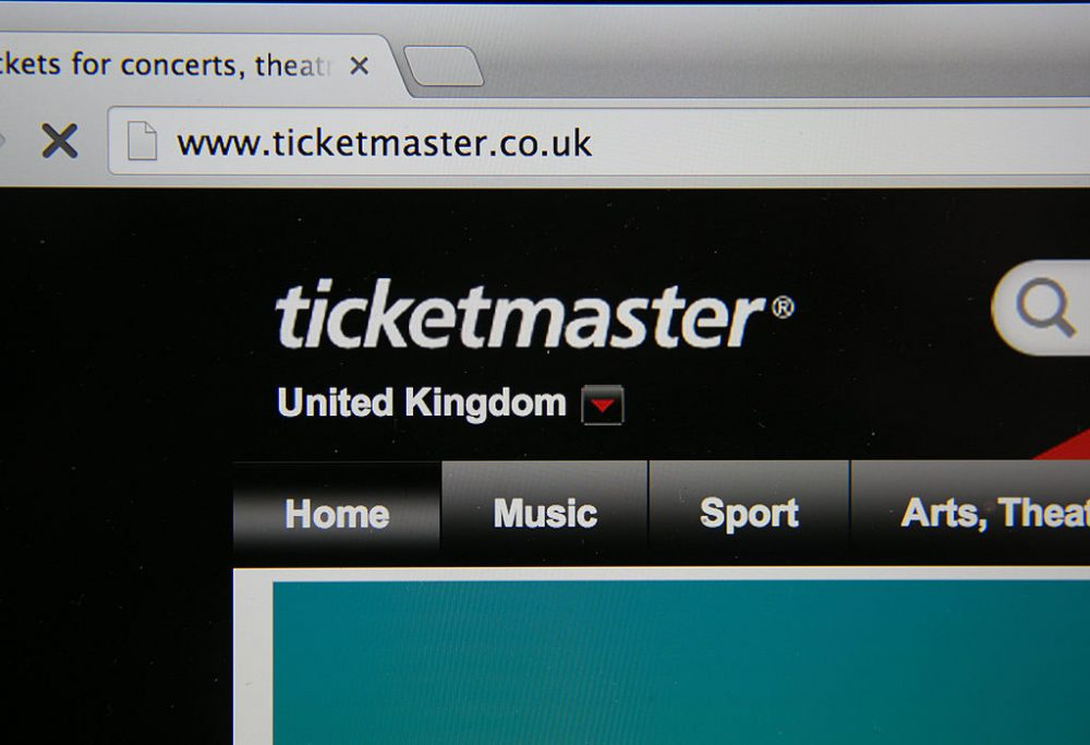 In this photo illustration a laptop displays the ticketmaster website on August 11, 2014 in Bristol, United Kingdom. (Matt Cardy/Getty Images)