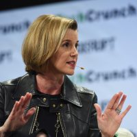 Sallie Krawcheck Co-founder and CEO of Ellevest speaks onstage during TechCrunch Disrupt NY 2016 at Brooklyn Cruise Terminal on May 11, 2016 in New York City.  (Noam Galai/Getty Images for TechCrunch/Flickr)