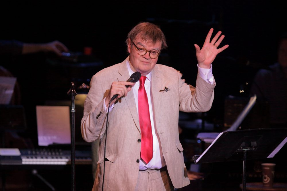 "Garrison Keillor during the Tanglewood live broadcast of ""A Prairie Home Companion"" on June 25, 2016. (Courtesy of Hilary Scott)"