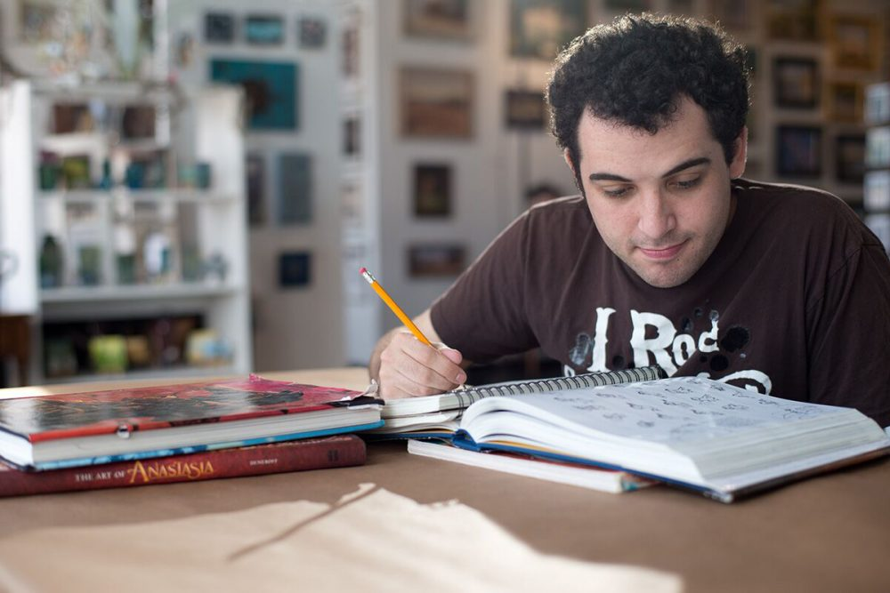 "Owen Suskind, in a still from the documentary ""Life, Animated."" (Courtesy of The Orchard)"