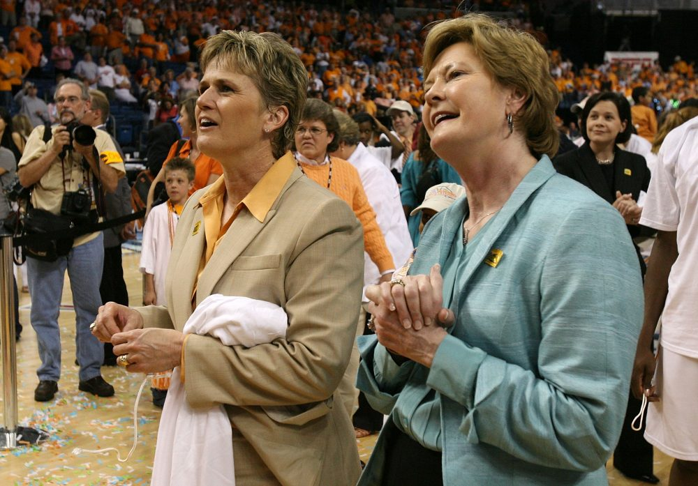 Holly Warlick (left) was Pat Summitt's assistant coach at Tennessee for 27 years before taking the reins in 2012. (Doug Benc/Getty Images)