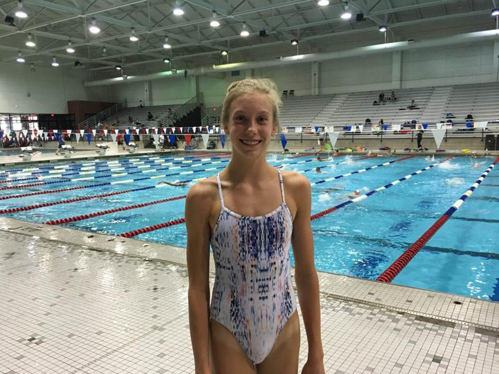 13-year old Gretchen Walsh will be the youngest swimmer at the Olympic Trials. (Anna Butrico/WPLN)