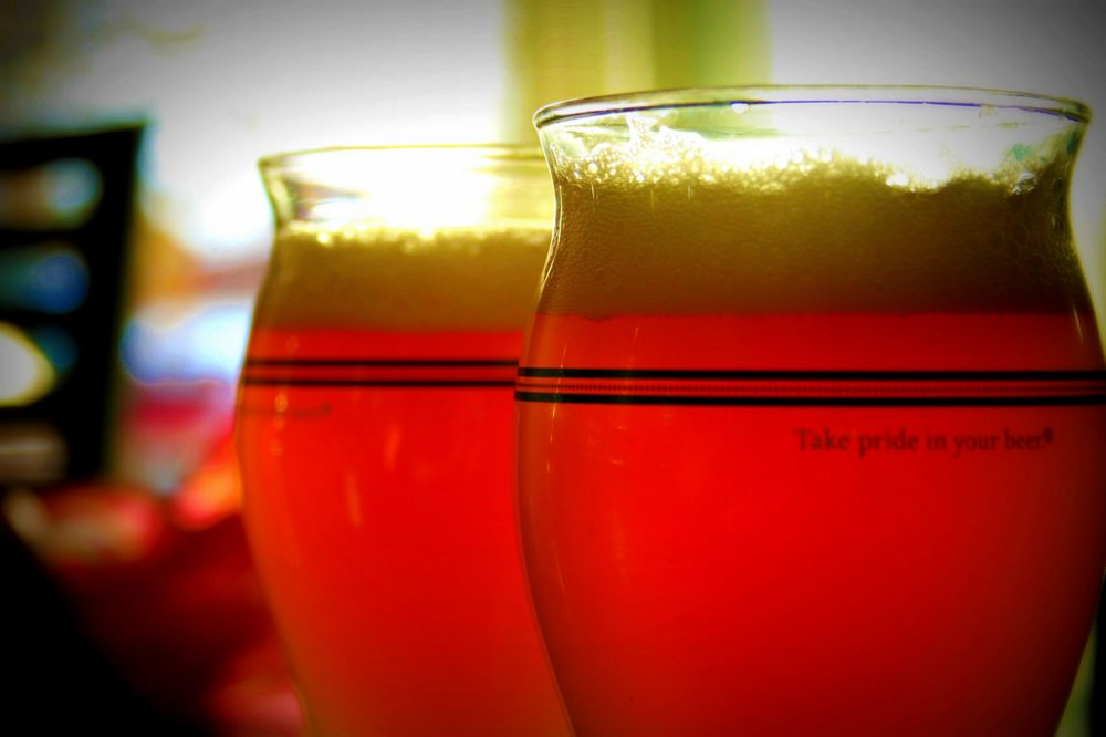 Sam Adams beer glasses. (Jinx!/Flickr)