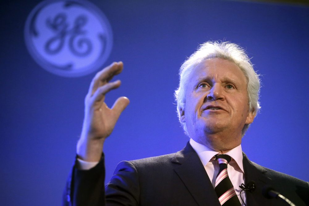 General Electric CEO Jeff Immelt speaks during a news conference in Boston on April 4. The company is set to move its headquarters from Connecticut to Boston. (Steven Senne/AP)