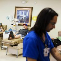The One Blood center took roughly 250 donations within the first 24 hours after the Orlando shooting. (David Goldman/AP)