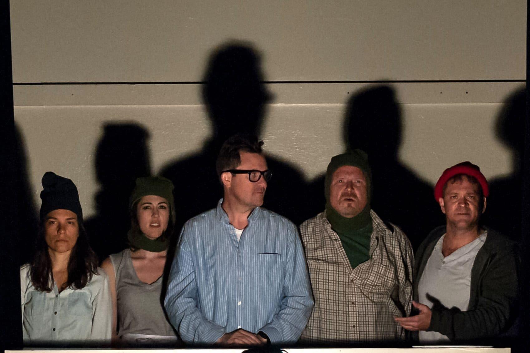 "Susannah Millonzi, Kelley Curran, Eric Tucker, Edmund Lewis and Tom O'Keefe in Bedlam's ""Twelfth Night.""  (A.R. Sinclair Photography)"