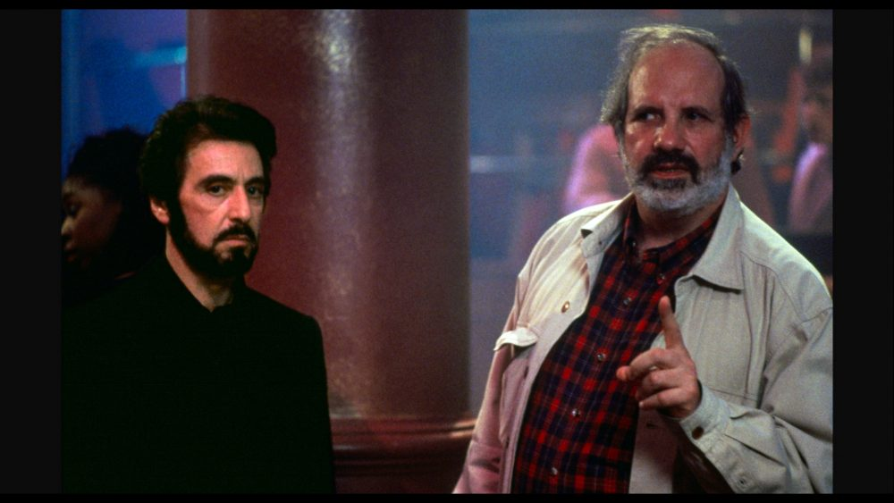 "Al Pacino and Brian De Palma on set of ""Carlito's Way."" (Courtesy A24)"