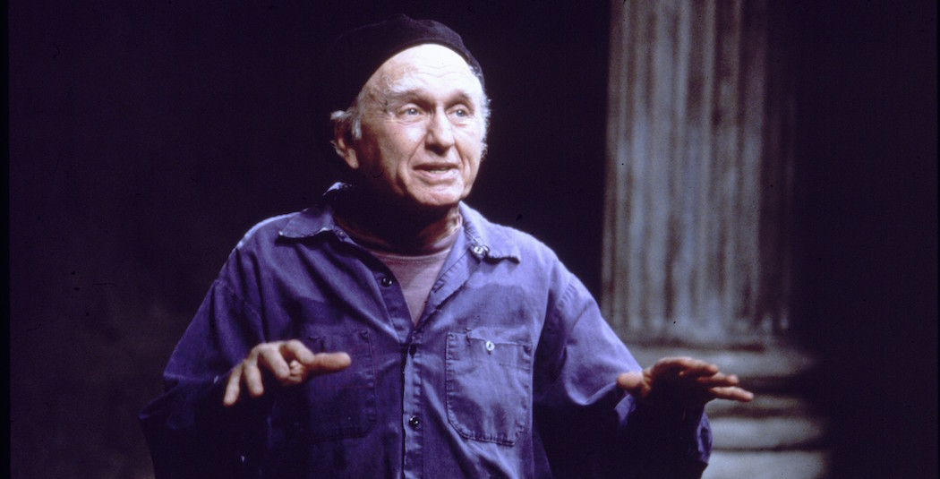"Actor Alvin Epstein, seen in a 1997 production of ""When the World Was Green (A Chef's Fable)"" at the American Repertory Theater. (Courtesy American Repertory Theater)"