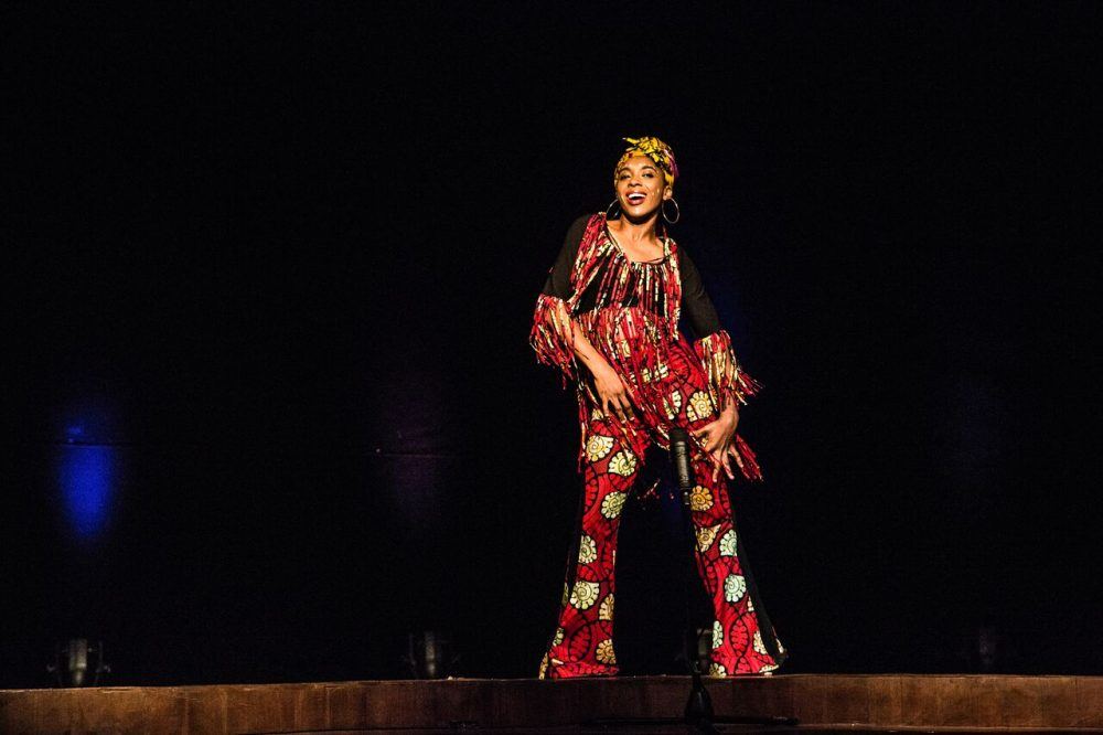 "The performance of ""Hear Word: Naija Woman Talk True"" came about through a collaboration with Harvard's Center for African Studies. (Courtesy A.R.T.)"