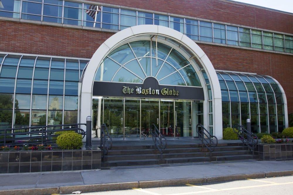 The Boston Globe's current home, on Morrissey Boulevard (Joe Difazio for WBUR)