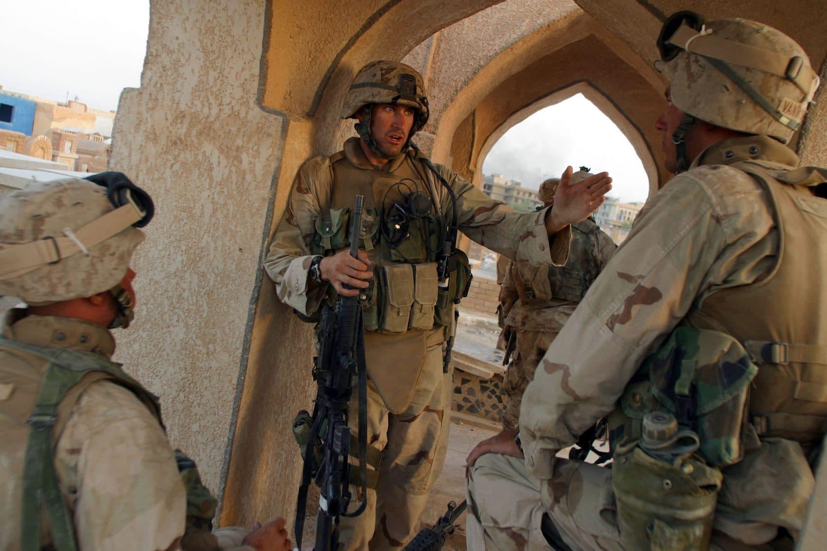 Seth Moulton in Iraq (Courtesy, Seth Moulton).