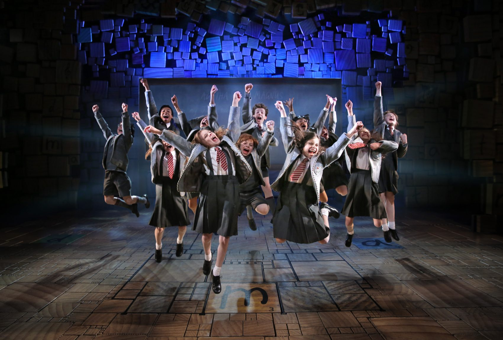 """Matilda,"" based on Roald Dahl's novel for children, is at the Boston Opera House. (Courtesy Joan Marcus/Broadway in Boston)"