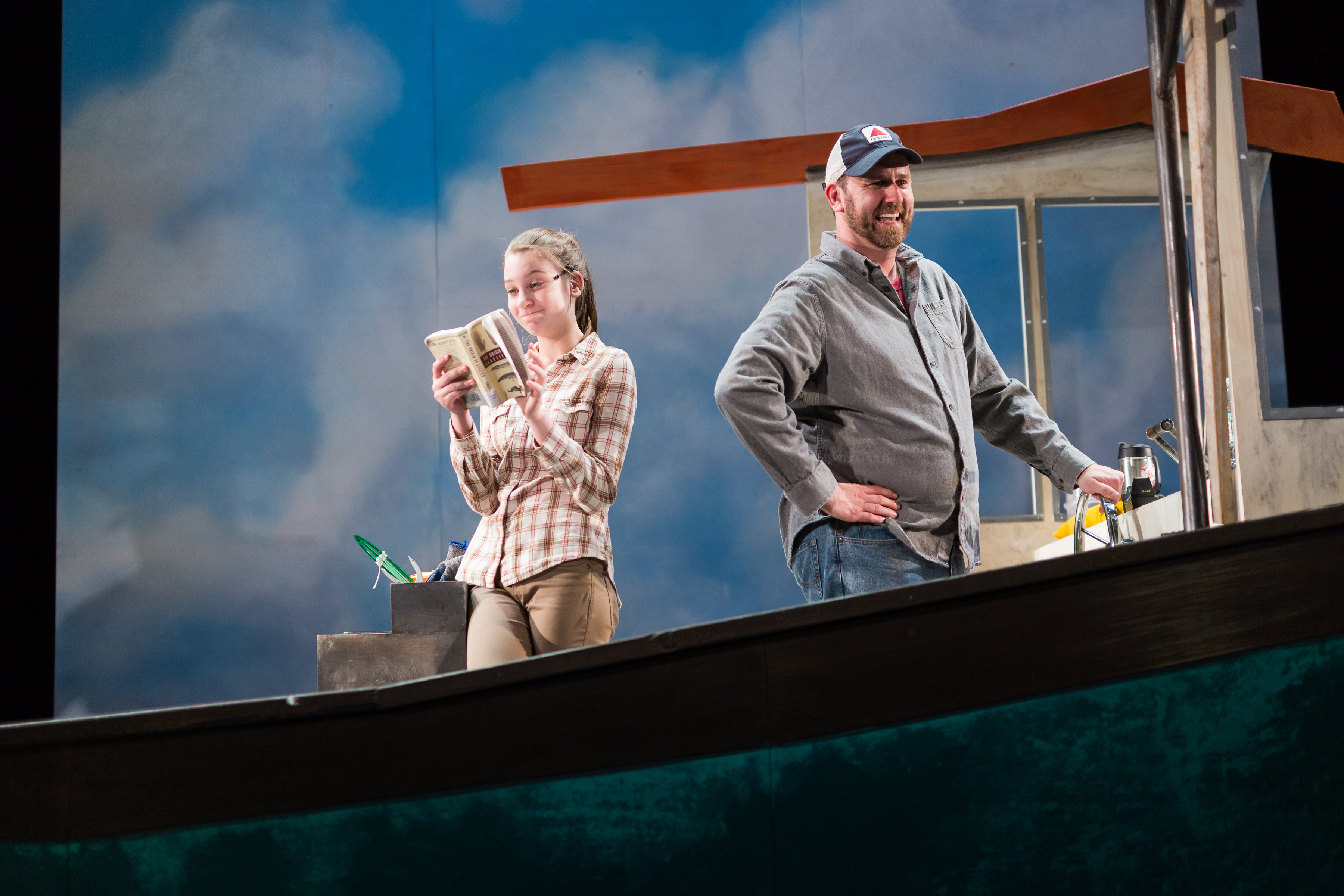 """Brigit Smith and Bryan T. Donovan in """"Lobster Girl"""" at Stoneham Theatre. (Courtesy Nile Hawver/Stoneham Theatre)"""