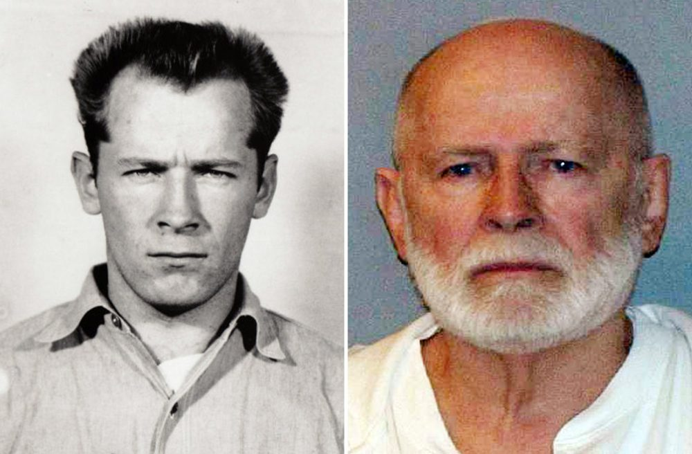 """James """"Whitey"""" Bulger is seen in two booking photos, decades apart -- 1959 and after his capture in 2011. The convicted mobster and murderer has died in prison. (U.S. Marshals Service)"""