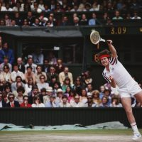 Lefty John McEnroe won seven Grand Slam singles titles from '79 to '84 -- and he wasn't the only left-handed player to find success during that time. (Steve Powell/Getty Images)