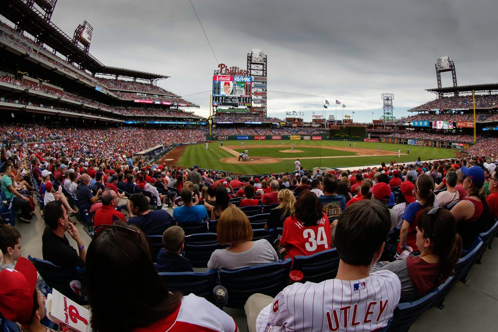 A view of the crowd watching the action during a game between the Philadelphia Phillies and the Kansas City Royals at Citizens Bank Park on July 2, 2016 in Philadelphia, Pennsylvania. The Royals won 6-2. (Hunter Martin/Getty Images)