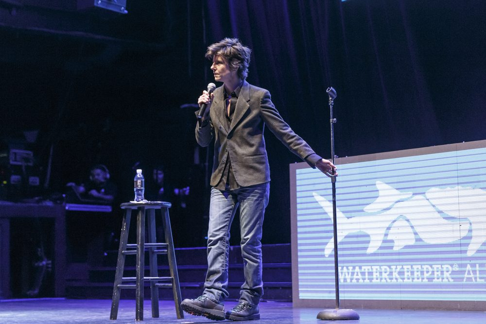 Comedian Tig Notaro performs on stage at the Keep It Clean To Benefit Waterkeeper Alliance Live Earth Day Comedy Benefit on April 22, 2015 in Los Angeles, California.  (Rich Polk/Getty Images for Waterkeeper Alliance)