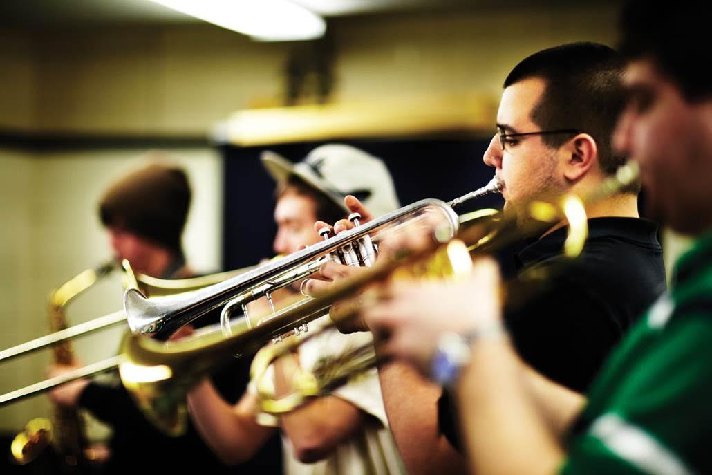 Students at Berklee practice playing their instruments. (Courtesy Berklee College of Music)