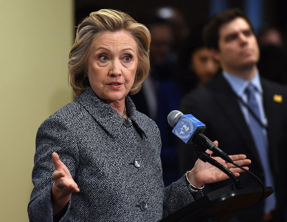 Hillary Clinton answers questions from reporters March 10, 2015 at the United Nations in New York. Clinton admitted Tuesday that she made a mistake in choosing for convenience not to use an official email account when she was secretary of state. (Don Emmert /AFP/Getty Images)