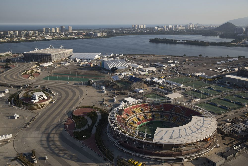 The Olympic Park of the 2016 Olympics is seen from the air in Rio de Janeiro, Brazil, Monday, July 4, 2016. (Felipe Dana/AP)