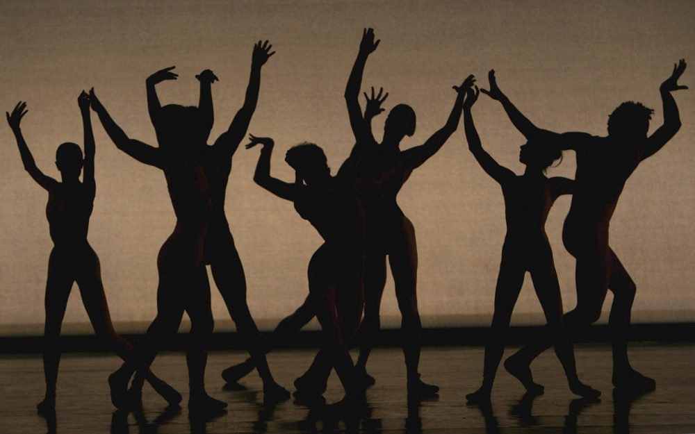 Dancers during the dress rehearsal for Commedia performed by Morphoses/The Wheeldon Company at Sadler's Wells on September 24, 2008 in London, England. (Matt Cardy/Getty Images)