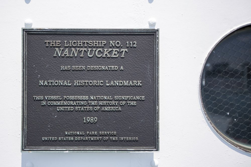 The Nantucket Lightship was designated a National Historic Landmark in 1989. (Jesse Costa/WBUR)