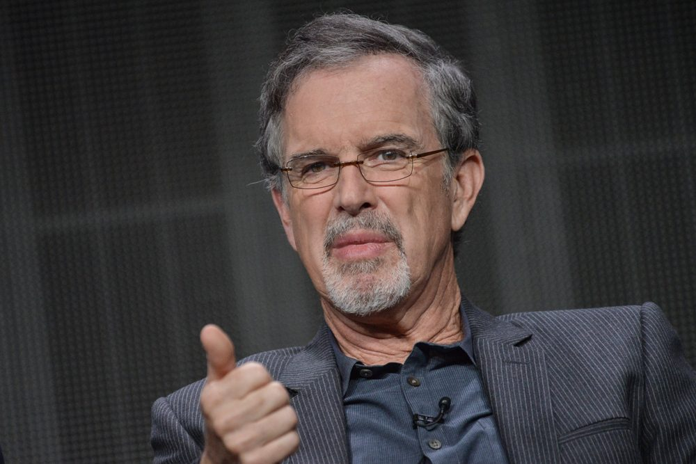 """Garry Trudeau speaks onstage during the """"Alpha House"""" panel at the Amazon 2014 Summer TCA on Saturday, July 12, 2014, in Beverly Hills, Calif. (Richard Shotwell/Invision/AP)"""