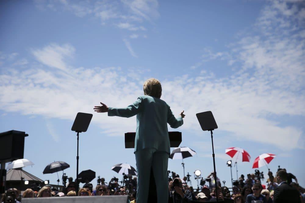 Democratic presidential candidate Hillary Clinton speaks on the Boardwalk in Atlantic City, N.J., Wednesday, July 6, 2016. (Mel Evans/AP)