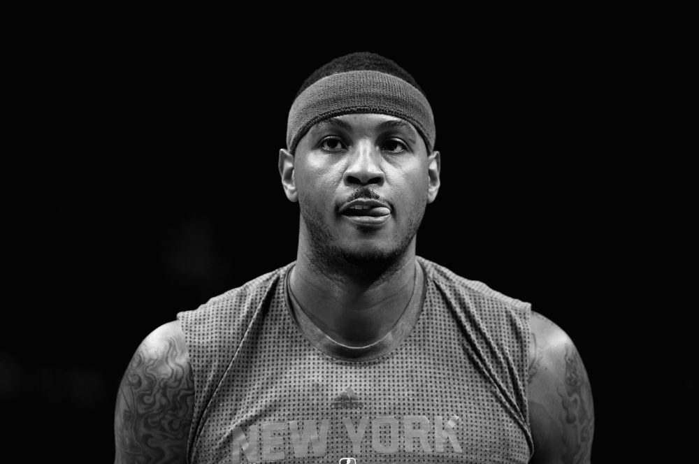 Carmelo Anthony has been among the athletes to speak out and demand systemic change in the wake of gun violence across the country. (Streeter Lecka/Getty Images)