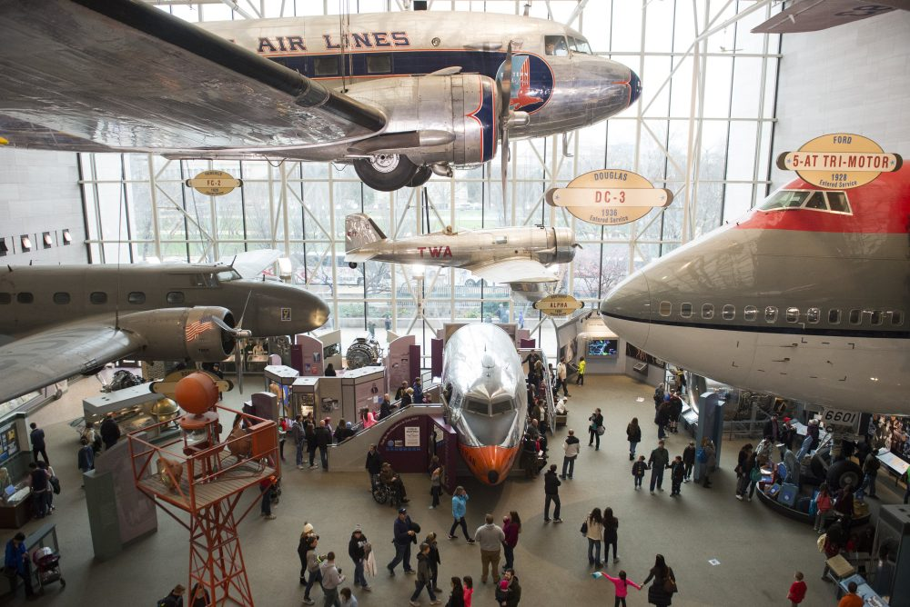 Tourists visit the Smithsonian National Air and Space Museum in Washington, DC, December 28, 2015. More than 8 million people visit the museum each year, making it one of the most visited museums in the world. (Saul Loeb/AFP/Getty Images)