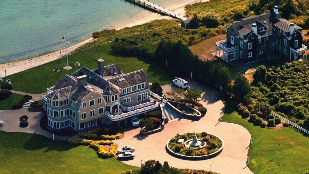 An aerial view of some of Martha's Vineyard's largest homes. (Courtesy Ray Ewing)
