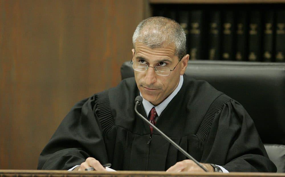 Judge Frank Gaziano during a 2009 hearing. (Matthew West/AP Pool)