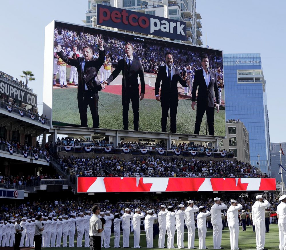 "The Tenors' rendition of ""O Canada"" needlessly included a nod to the ""All Lives Matter"" movement. (AP Photo/Gregory Bull, File)"