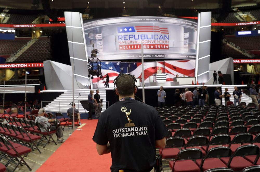 Preparations continue for the Republican National Convention, Friday, July 15, 2016, at the Quicken Loans Arena in Cleveland. (Alex Brandon/AP)